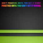 Scrapbook Customs - Neon Sport Quotes Collection - 12 x 12 Paper - Practice
