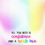 Scrapbook Customs - Neon Sport Quotes Collection - 12 x 12 Paper - Confidence