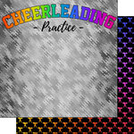 Scrapbook Customs - Neon Sports Collection - Cheer - 12 x 12 Double Sided Paper - 3