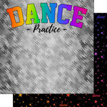 Scrapbook Customs - Neon Sports Collection - Dance - 12 x 12 Double Sided Paper - 1