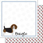 Scrapbook Customs - Puppy Love Collection - 12 x 12 Double Sided Paper - Breed - Beagle