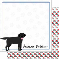 Scrapbook Customs - Puppy Love Collection - 12 x 12 Double Sided Paper - Breed - Labrador