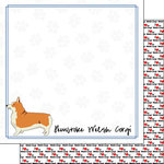Scrapbook Customs - Puppy Love Collection - 12 x 12 Double Sided Paper - Breed - Pembroke Welsh Corgi