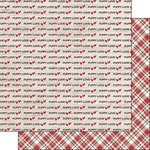 Scrapbook Customs - Puppy Love Collection - 12 x 12 Double Sided Paper - Plaid