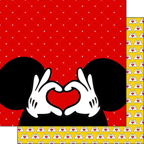 Scrapbook Customs - Magical Collection - 12 x 12 Double Sided Paper - Magical Heart Hands
