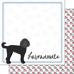 Scrapbook Customs - Puppy Love Collection - 12 x 12 Double Sided Paper - Breed - Labradoodle
