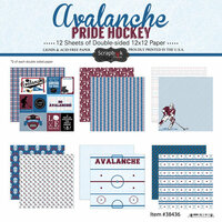 Scrapbook Customs - Hockey Collection - 12 x 12 Collection Kit - Avalanche Pride