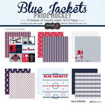 Scrapbook Customs - Hockey Collection - 12 x 12 Collection Kit - Blue Jackets Pride