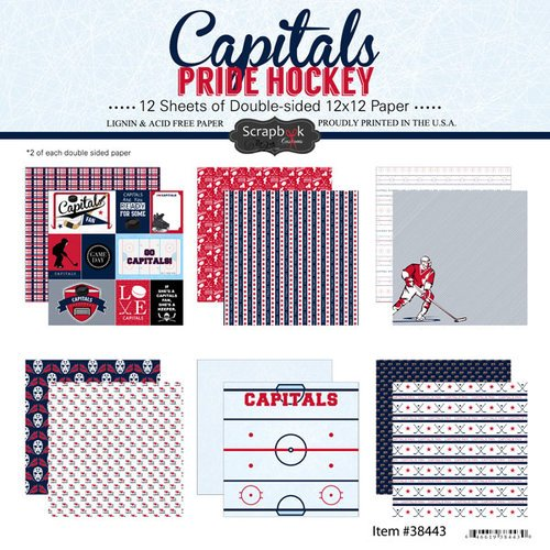 Scrapbook Customs - Hockey Collection - 12 x 12 Collection Kit - Capitals Pride