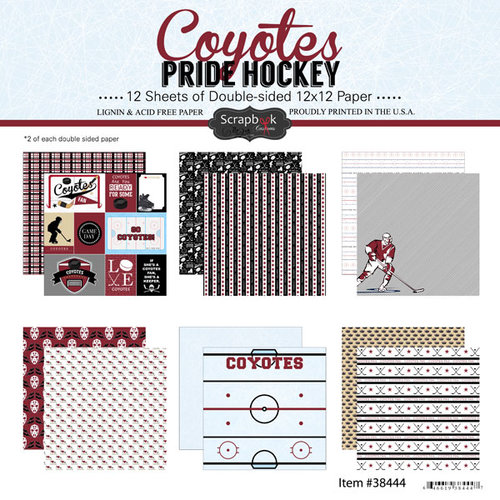 Scrapbook Customs - Hockey Collection - 12 x 12 Collection Kit - Coyotes Pride