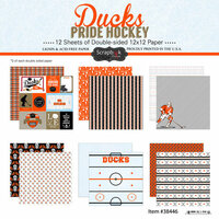 Scrapbook Customs - Hockey Collection - 12 x 12 Collection Kit - Ducks Pride