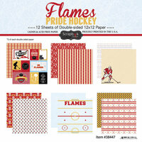 Scrapbook Customs - Hockey Collection - 12 x 12 Collection Kit - Flames Pride