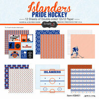 Scrapbook Customs - Hockey Collection - 12 x 12 Collection Kit - Islanders Pride