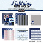 Scrapbook Customs - Hockey Collection - 12 x 12 Collection Kit - Lightning Pride