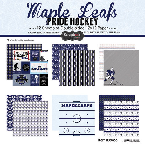 Scrapbook Customs - Hockey Collection - 12 x 12 Collection Kit - Maple Leafs Pride