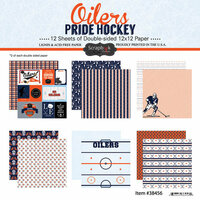 Scrapbook Customs - Hockey Collection - 12 x 12 Collection Kit - Oilers Pride