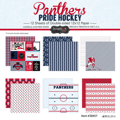 Scrapbook Customs - Hockey Collection - 12 x 12 Collection Kit - Panthers Pride