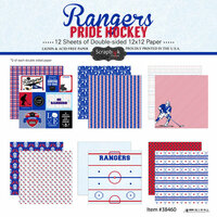 Scrapbook Customs - Hockey Collection - 12 x 12 Collection Kit - Rangers Pride