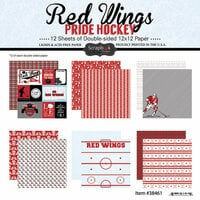 Scrapbook Customs - Hockey Collection - 12 x 12 Collection Kit - Red Wings Pride