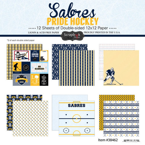Scrapbook Customs - Hockey Collection - 12 x 12 Collection Kit - Sabres Pride