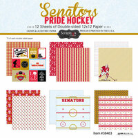 Scrapbook Customs - Hockey Collection - 12 x 12 Collection Kit - Senators Pride