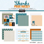Scrapbook Customs - Hockey Collection - 12 x 12 Collection Kit - Sharks Pride