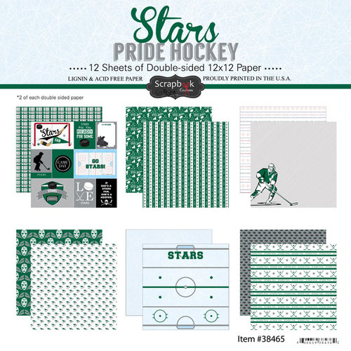 Scrapbook Customs - Hockey Collection - 12 x 12 Collection Kit - Stars Pride