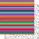 Scrapbook Customs - Celebrations Collection - 12 x 12 Double Sided Paper - Fiesta Blanket and Confetti