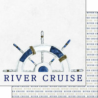 Scrapbook Customs - 12 x 12 Double Sided Paper - River Cruise - Watercolor
