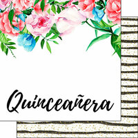 Scrapbook Customs - Celebrations Collection - 12 x 12 Double Sided Paper - Quinceanera