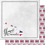 Scrapbook Customs - Adventure Collection - 12 x 12 Double Sided Paper - Adventure Flag - Hawaii
