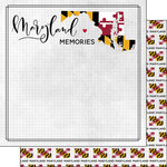 Scrapbook Customs - Adventure Collection - 12 x 12 Double Sided Paper - Adventure Flag - Maryland