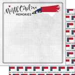 Scrapbook Customs - Adventure Collection - 12 x 12 Double Sided Paper - Adventure Flag - North Carolina