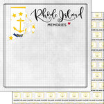 Scrapbook Customs - Adventure Collection - 12 x 12 Double Sided Paper - Adventure Flag - Rhode Island