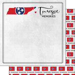 Scrapbook Customs - Adventure Collection - 12 x 12 Double Sided Paper - Adventure Flag - Tennessee
