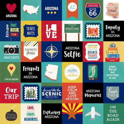 Scrapbook Customs - Adventure Collection - 12 x 12 Paper - Adventure Cut Outs - Arizona