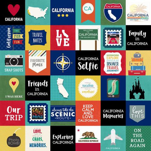 Scrapbook Customs - Adventure Collection - 12 x 12 Paper - Adventure Cut Outs - California