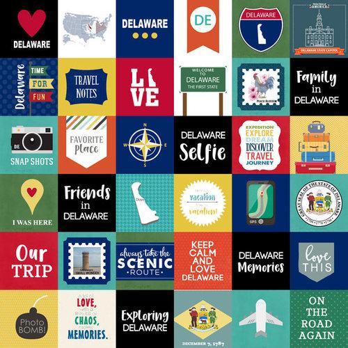 Scrapbook Customs - Adventure Collection - 12 x 12 Paper - Adventure Cut Outs - Delaware