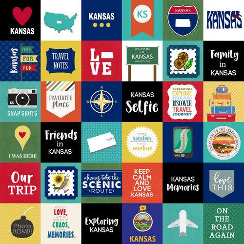 Scrapbook Customs - Adventure Collection - 12 x 12 Paper - Adventure Cut Outs - Kansas