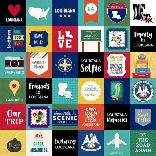 Scrapbook Customs - Adventure Collection - 12 x 12 Paper - Adventure Cut Outs - Louisiana