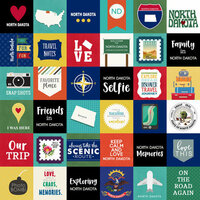 Scrapbook Customs - Adventure Collection - 12 x 12 Paper - Adventure Cut Outs - North Dakota