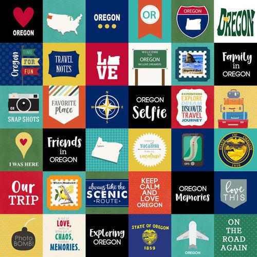 Scrapbook Customs - Adventure Collection - 12 x 12 Paper - Adventure Cut Outs - Oregon