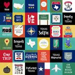 Scrapbook Customs - Adventure Collection - 12 x 12 Paper - Adventure Cut Outs - Texas