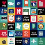 Scrapbook Customs - Adventure Collection - 12 x 12 Paper - Adventure Cut Outs - Utah