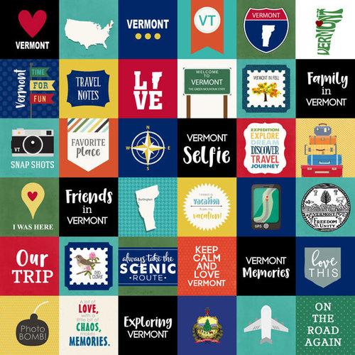 Scrapbook Customs - Adventure Collection - 12 x 12 Paper - Adventure Cut Outs - Vermont