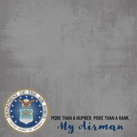 Scrapbook Customs - Military Collection - 12 x 12 Paper - Air Force - My Airman