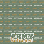 Scrapbook Customs - Military Collection - 12 x 12 Paper - Army - Veteran