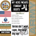 Scrapbook Customs - Military Collection - 12 x 12 Paper - Army - Tags