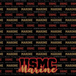 Scrapbook Customs - Military Collection - 12 x 12 Paper - Marines - Active Duty
