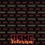 Scrapbook Customs - Military Collection - 12 x 12 Paper - Marines - Veteran